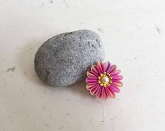 Obidome, Pink flower Kimono obi accessory o003