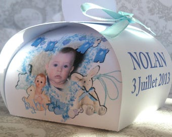 20 adorable box has sweets for baptism baby personalized picture of baby name and date of baptism