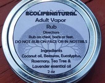 SALE 2 oz Adult Vapor Rub Natural Products