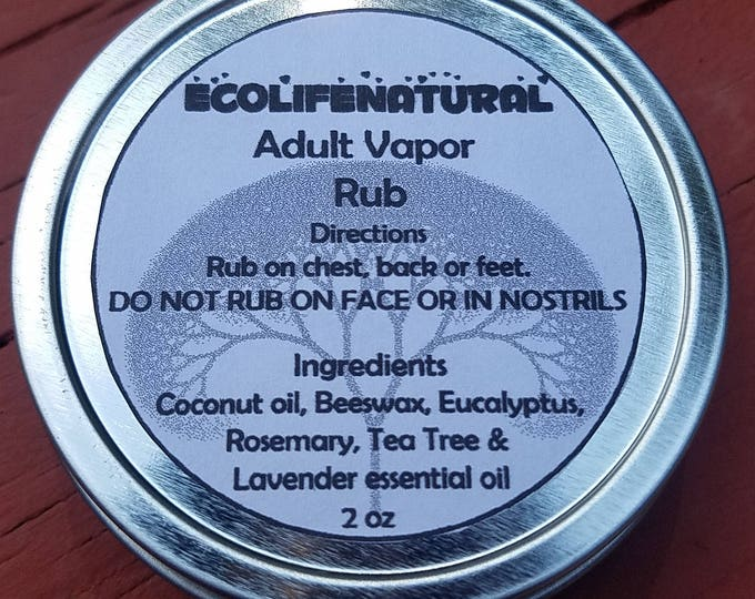 Featured listing image: SALE 2 oz Adult Vapor Rub Natural Products