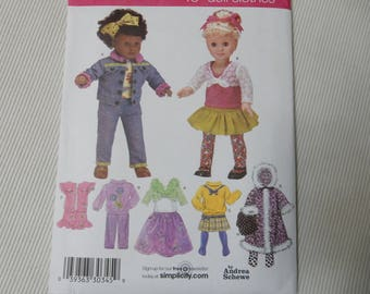 "Simplicity 3873 Wardrobe for 18"" Doll"