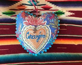 "Handmade Heart-shaped Mini Pillow ""Corazon"""