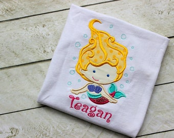 girls mermaid shirt embroidered applique top mermaid shirt birthday girls shirt mermaid outfit shirt clothing toddler girl infant mermaid