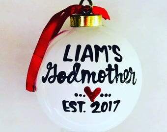godmother-godfather ornament- gift for godmother gift for godfather- new godmother gift- new godfather gift- stocking stuffer christmas