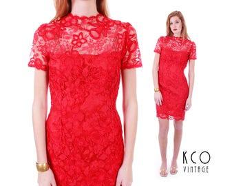 A long red dress 50s