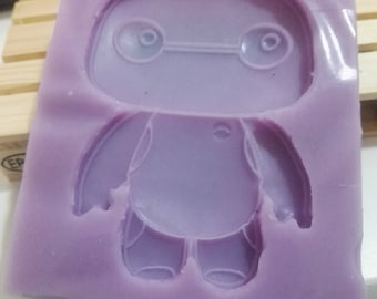 Silicone rubber mold with puppet