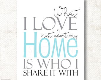 What I love most about my home, Art Print