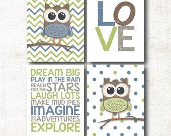 Elephant, ABC's and 123's, Nursery Art Print Set, Art Print