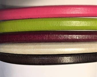 "Shorts: 5 Strands licorice leather bundle, 6"" each, Colors as shown, #6 bundle"