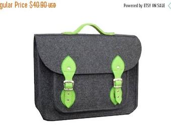 SALE MacBook Pro 13 inch bag, vegan bag, satchel, Laptop bag, case, felt messenger bag