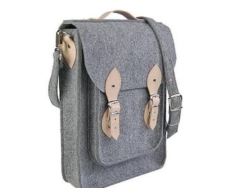 Christmasinjuly Vertical Laptop bag 13 in, felt satchel, macbook pro, macbook air 13 inch sleeve, case, bag