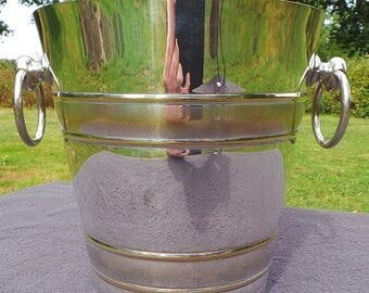 Sale 15% Off French Silver Plated Champagne Bucket or Wine Cooler - Used Condition Super Antique Seau de Champagne Surface Scratches Loss Of
