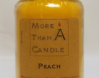 16 oz Peach Soy Candle