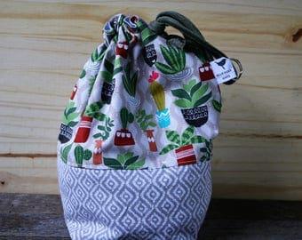 Cactus Polka Dot Drawstring Bag