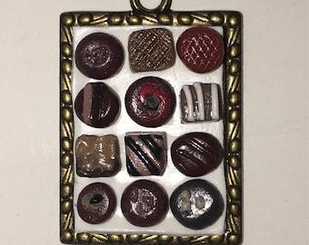 Chocolate box necklace