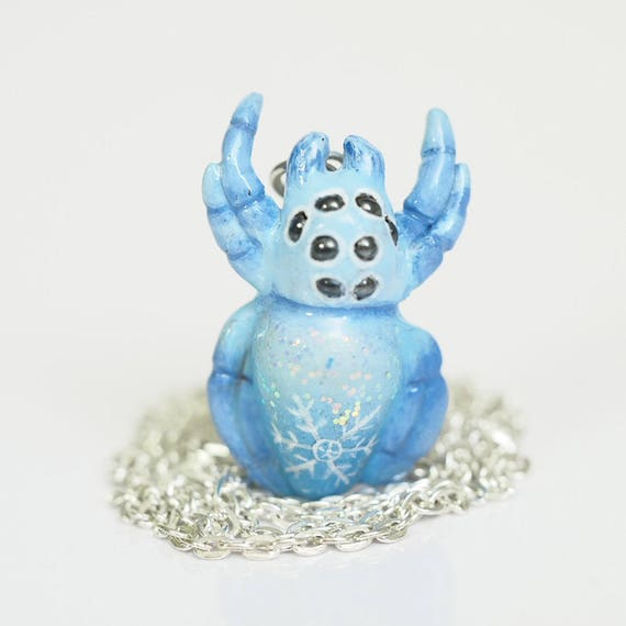 WINTER SPIDER - Handmade Polymer Clay Necklace
