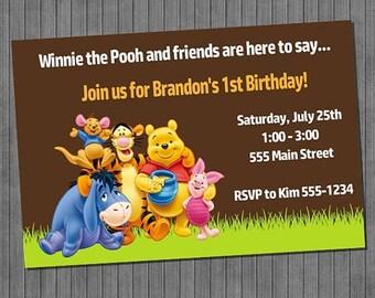FLASH SALE Winnie the Pooh Invitations