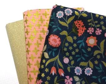 Darkest Glitz Fabric Bundle, Chieveley by Lewis & Irene, Glimmer by Cloud9 Fabrics, metallic fabric bundle, fat quarter bundle for quilting,
