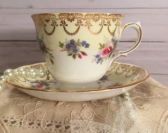 Queen Anne Tea Cup and Saucer