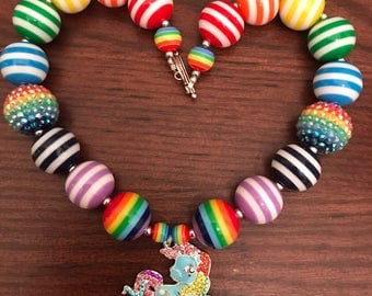 My Little Pony Rainbow Dash Chunky Bubble Gum Necklace 2 Styles (Child/Toddler)