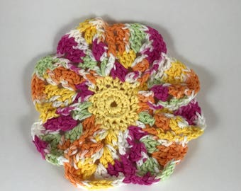 Flower Petal Dishcloth