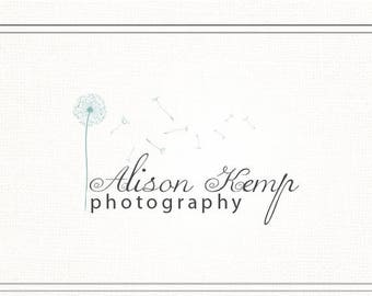 ON SALE Premade Photography Watermark + Logo with Dandelion - L024