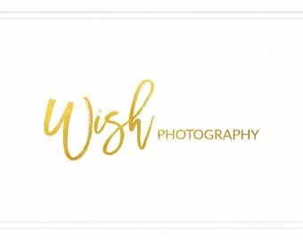 Trendy Modern Logo, Bold Photography Logo, Name Logo, Premade Photo Logo, Signature Logo, Design Logo, Simple Logo, Gold Logo Design, L133