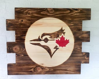 Toronto Blue Jays baseball wood sign