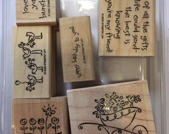 Stampin Up retired set unused - Love Ya Bunches