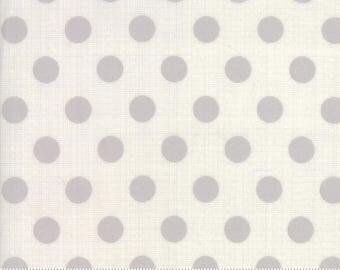 Jen Kingwell Circulus Tiny Plaid Polka Dot Stone Grey Fabric 18131-28 BTY