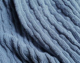 Dyed Cotton Sweater Knit - Cobblestone (by the half yard)