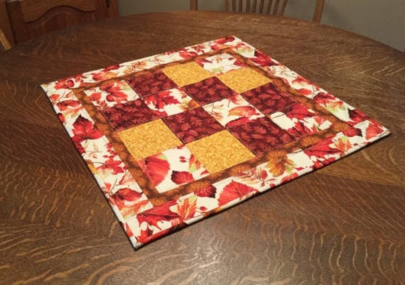 Quilted Table Topper, Quilted Fall Table Topper, Fall Table Topper, Quilted Table runner