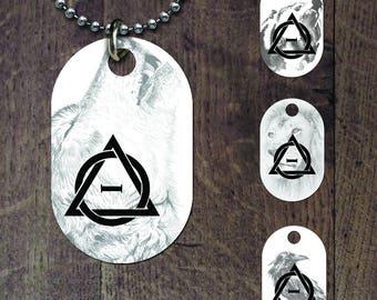 Therian symbol -animal background dog tag