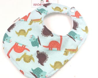Dinosaur bib - Boys Infant Bibs - Boy baby Bibs - Boys Animal Bib - Toddler Boy Bib - Boys Baby Gift - Baby Bibs Handmade -  20