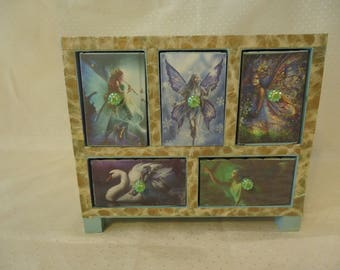 Fairy Five Drawer Chest Jewelry Box