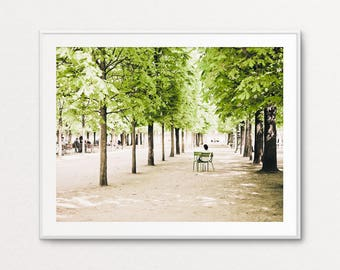 Paris Street Photography, Tuileries Photograph, Paris Photography, Paris Light, Paris Spring, Paris Decor, Paris Print, Paris Wall Art