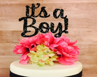 It's A Boy, Baby Shower Cake Topper, Baby Shower, Baby Shower Decoration, Gender Reveal Cake Topper, Glitter Cake Topper, Cake Topper