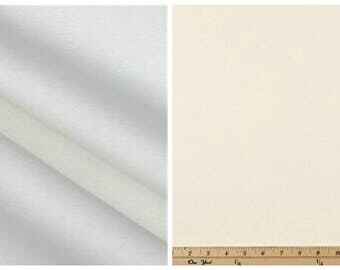 White or Natural Fabric by the BOLT Upholstery Home Decor solid cotton Premier Prints curtains pillows runners 30 yards!