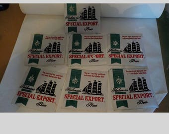 7 Vintage New Old Stock Heileman's Special Export Beer Patches