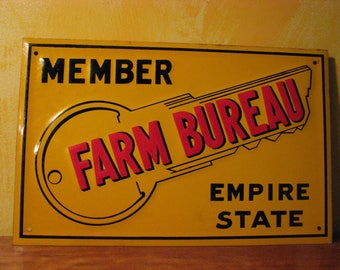 Original 1940s - 50s Empire State Farm Bureau Sign