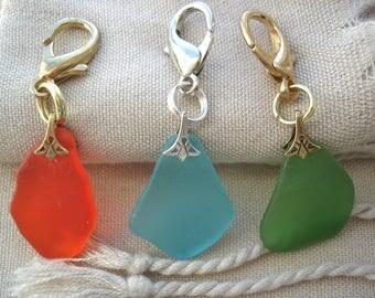 Zipper Charms, Sea Glass Zipper Charms, Fun Zipper Charms, Colorful Zipper Charms, Purse Charms, Bag Charms, Baby Bag Charms