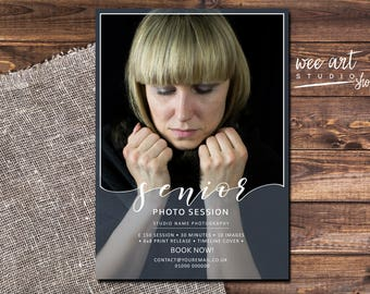 Senior Portrait Photo Session / mini session template for Photographers 7x5