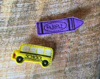 Wheels on the Bus 2pc Clip Set