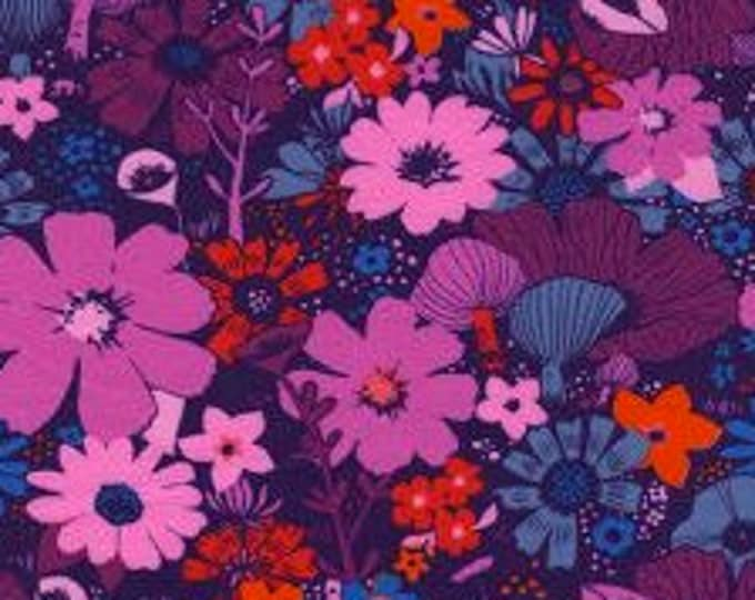 Bouquet in Grape -Dress Shop by Cotton + Steel- Cotton Spandex Knit