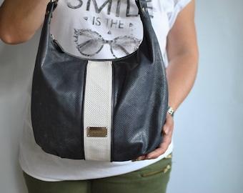 Vintage PICARD leather handbag , women's leather bag................(303)
