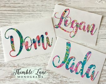 VINYL NAME DECAL - Yeti Cup Decal - Name Decal for Cups - Tumbler Decals - Cup Decal - Name Decal- Bridal Party Decals - Wine Glass Decal