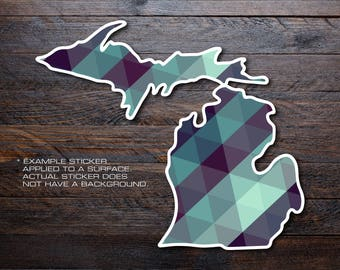 Michigan Mitten Vinyl Decal Sticker A41