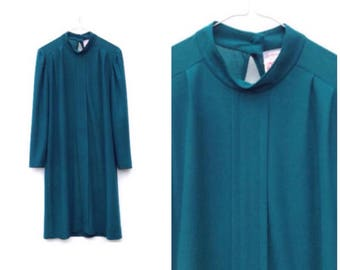 70's Tunic Dress | Emerald Green
