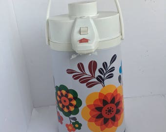 Vintage Floral Air Pot Thermos - Coffee Carafe Server - Hot/Cold