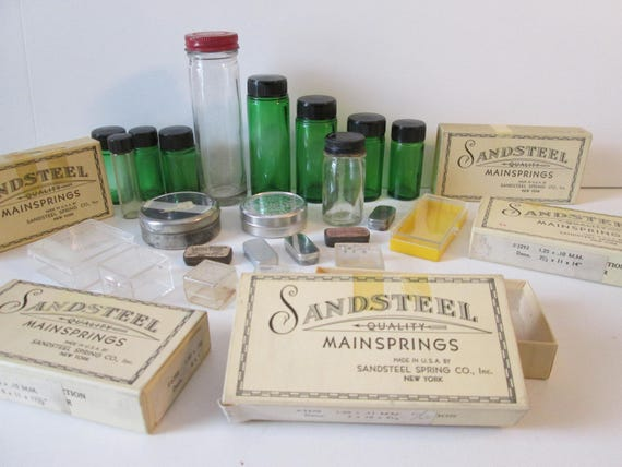 Nice Lot of Assorted Vintage Glass, Plastic, Tin and Cardboard EMPTY Containers for your Storage Needs